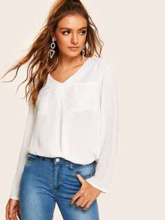 Patch Pocket Tunic Top