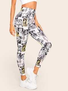 Figure Print Leggings