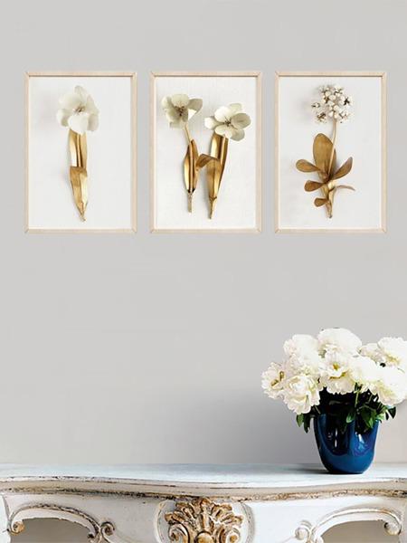 3D Flower Wall Art Print 3pcs