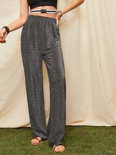 Elastic Waist Glitter Pants