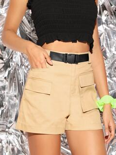 Pocket Front Zip Fly Utility Shorts