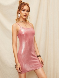 Bodycon Metallic Cami Dress