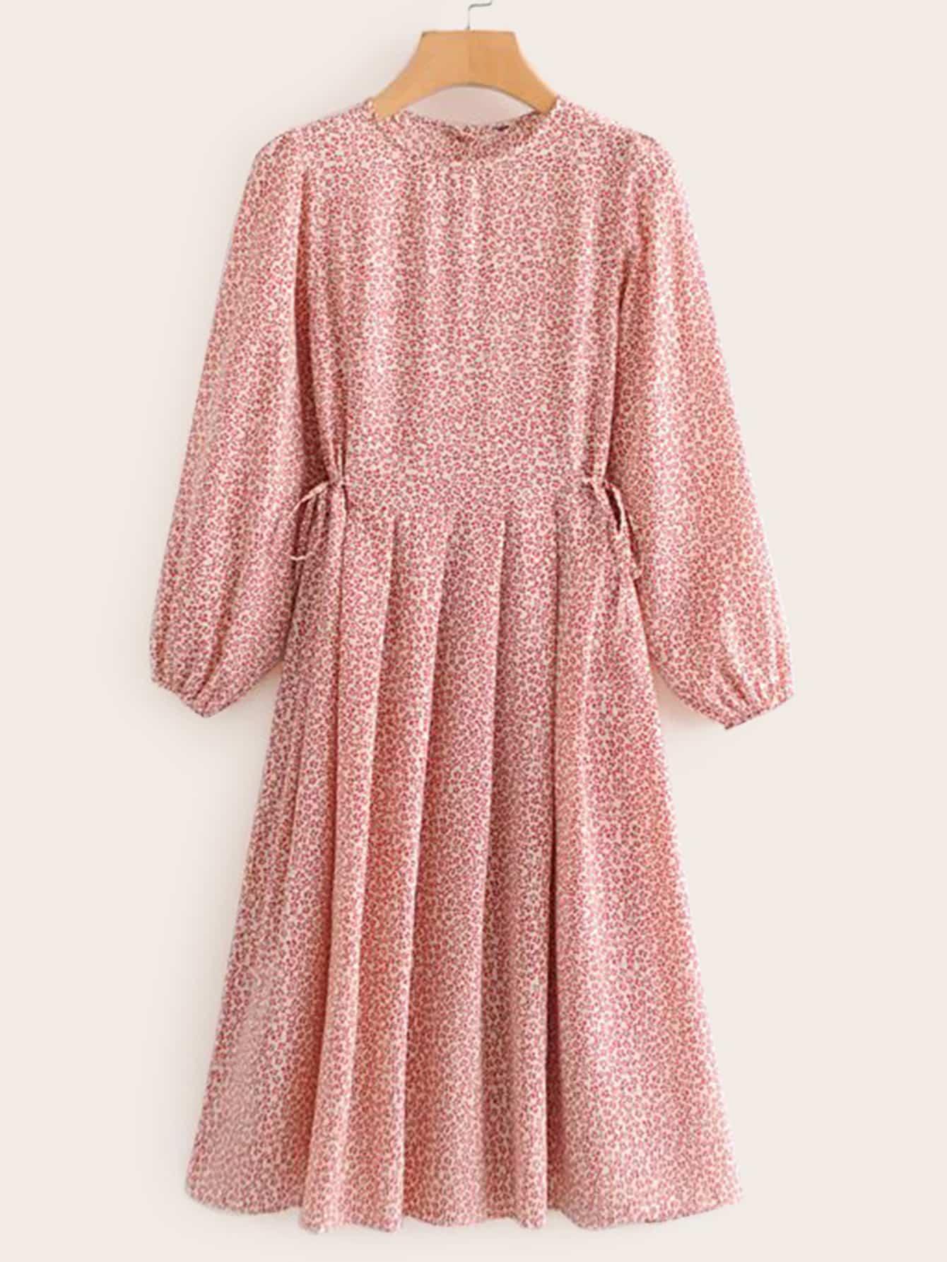 7f6e5c6586 Ditsy Floral Print Drawstring Waist Frill Trim Skirt купить в Краснодаре