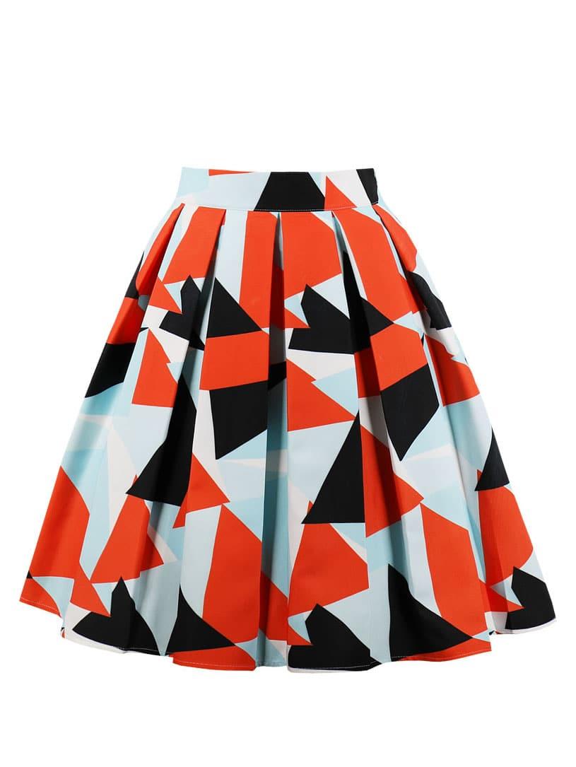 50s велосипедная юбка с графическим принтом SheIn
