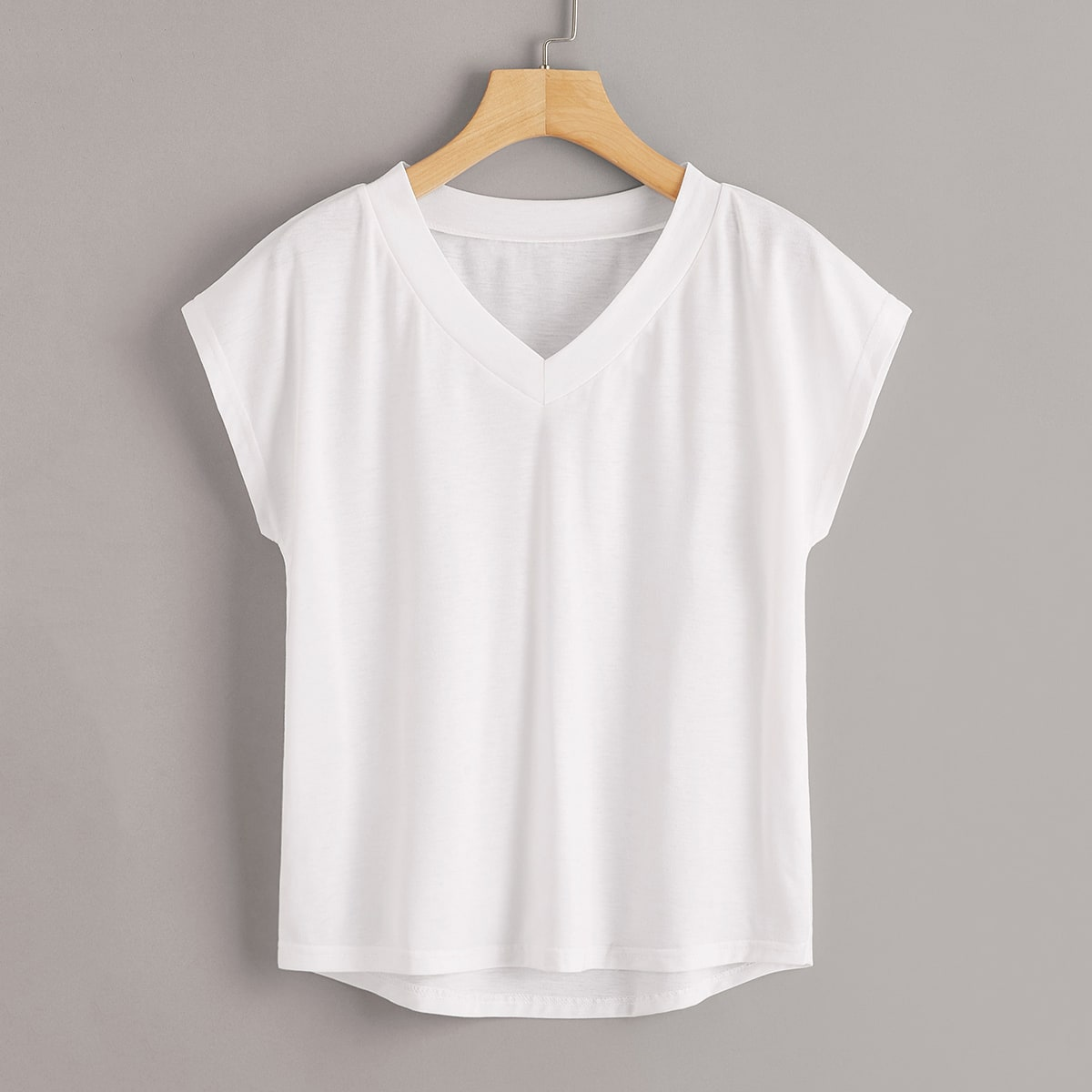 Wit Casual Vlak T-shirts
