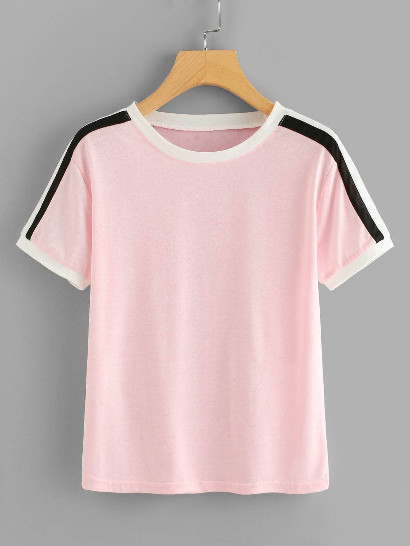 Plus Contrast Striped Tee null