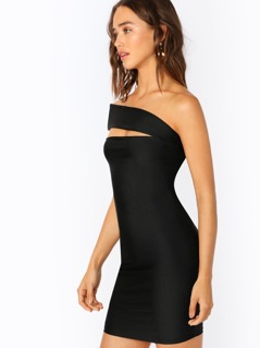 Asymmetric One Shoulder Bodycon Mini Dress