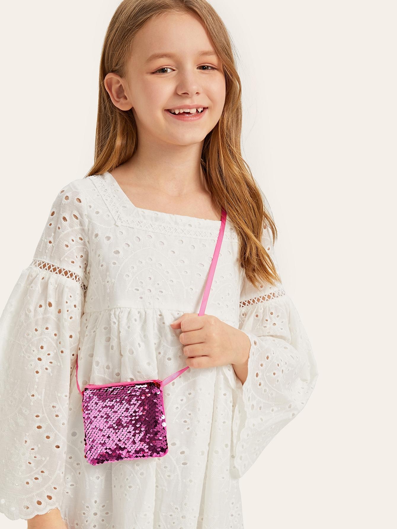 Для девочек сумка через плечо с блестками