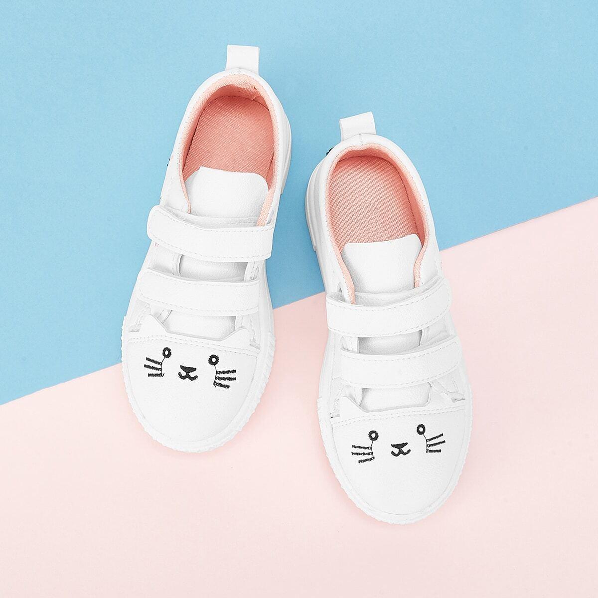 Детские кроссовки с двумя ремешками на липучке от SHEIN