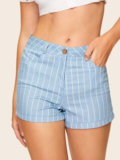 60s Zip Fly Stripe Shorts