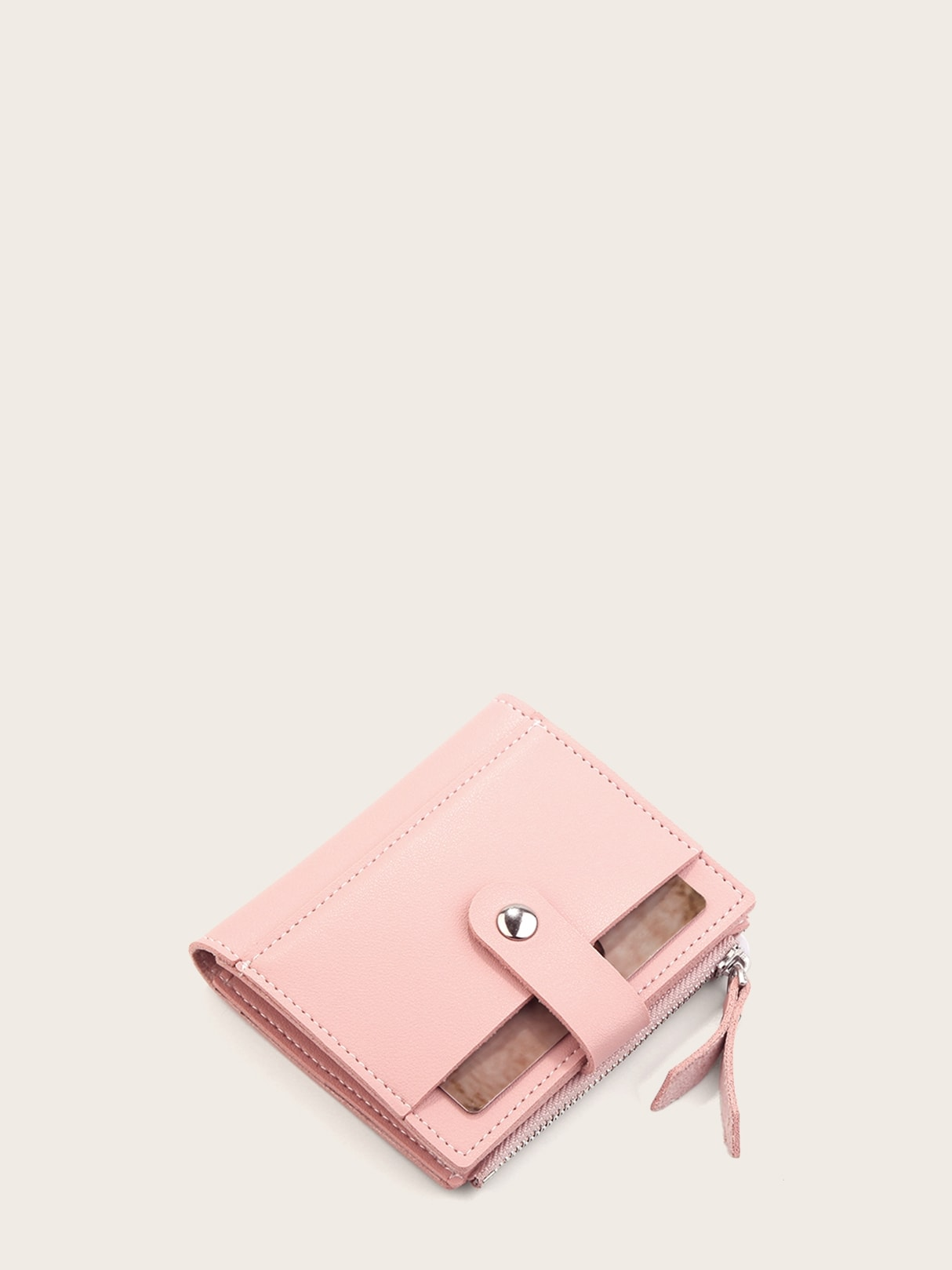 Fold Over Side Zip Purse null