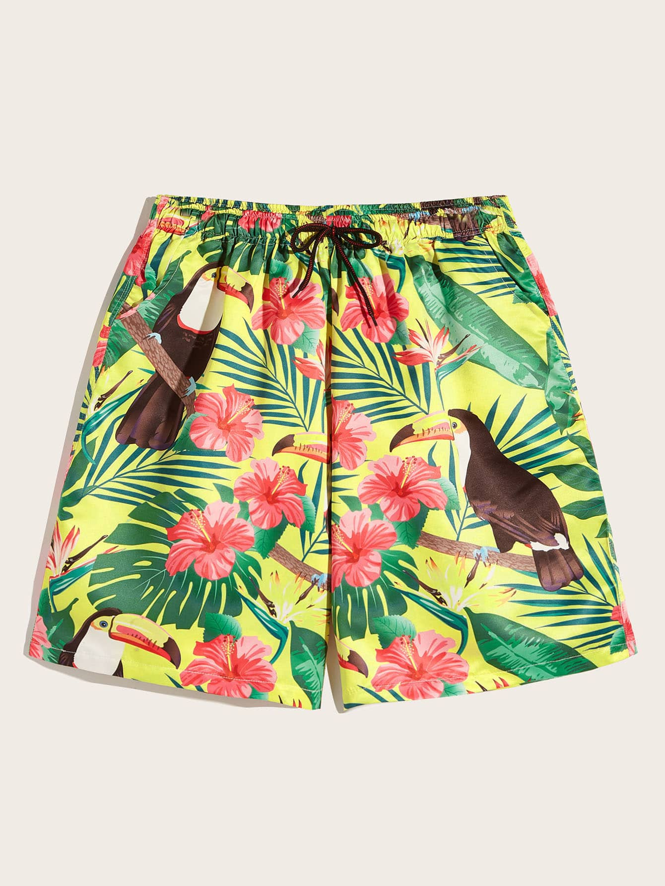 Фото - Мужские шорты на кулиске с графическим принтом от SheIn цвет многоцветный