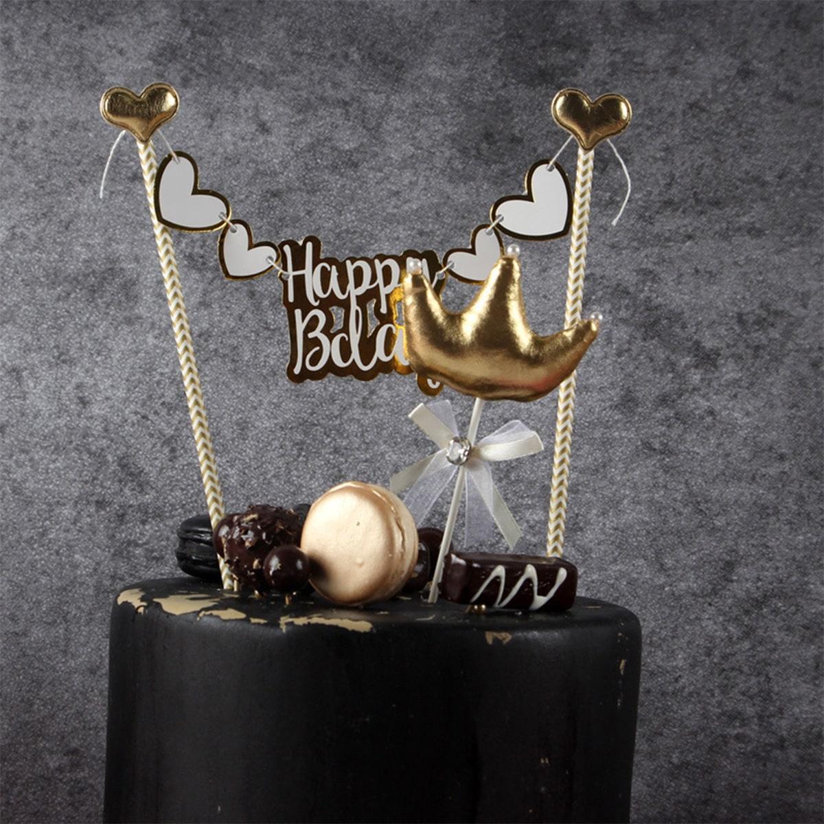 Verjaardagstaart Topper Decoratie 1pc