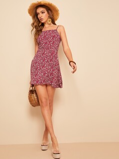 Ditsy Floral Spaghetti Strap Dress