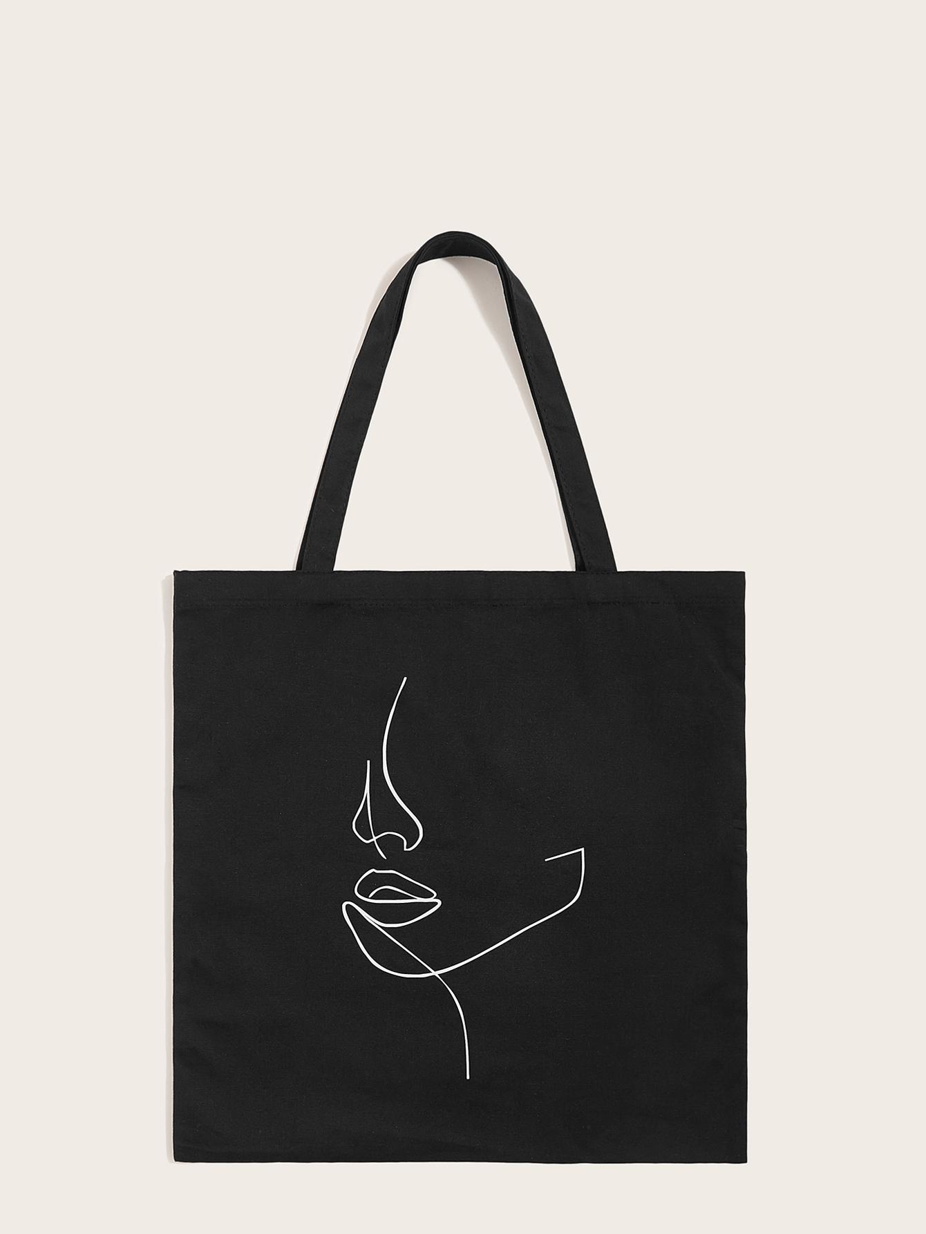 Большая сумка с абстрактным рисунком SheIn