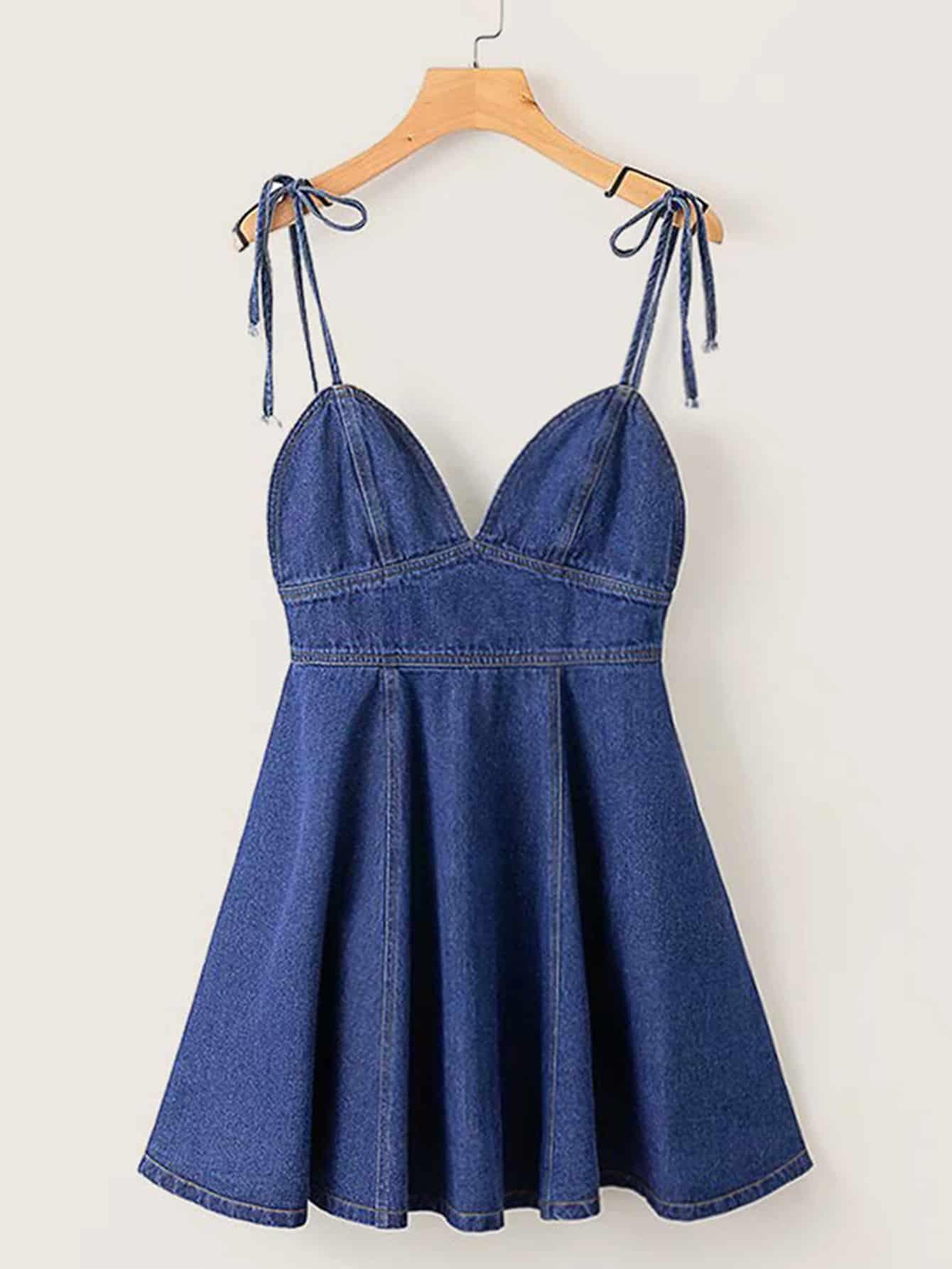 Джинсовое платье  Тёмно-синие цвета