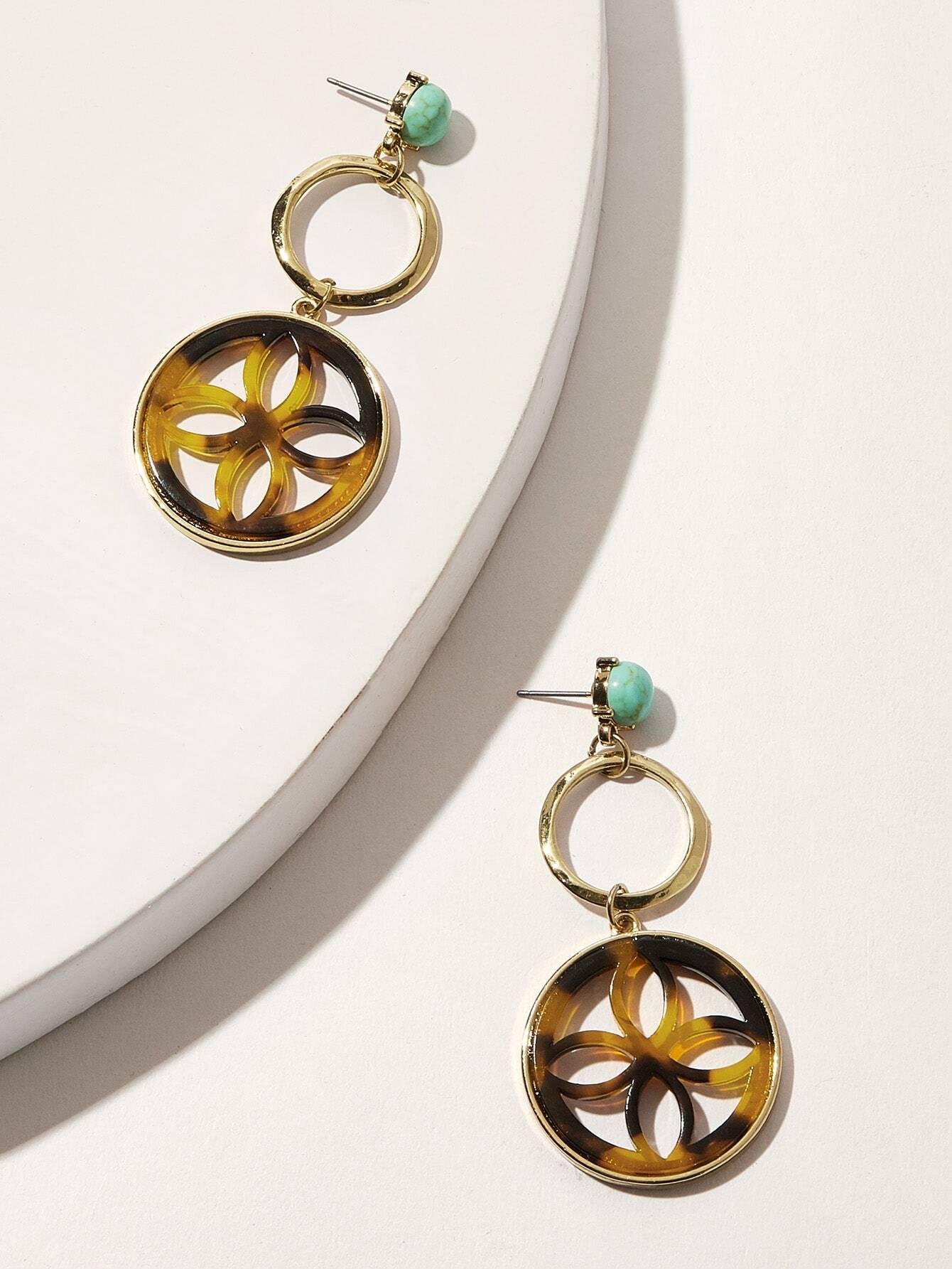 Фото - Круглые серьги-капли 1 пара от SheIn цвет многоцветный