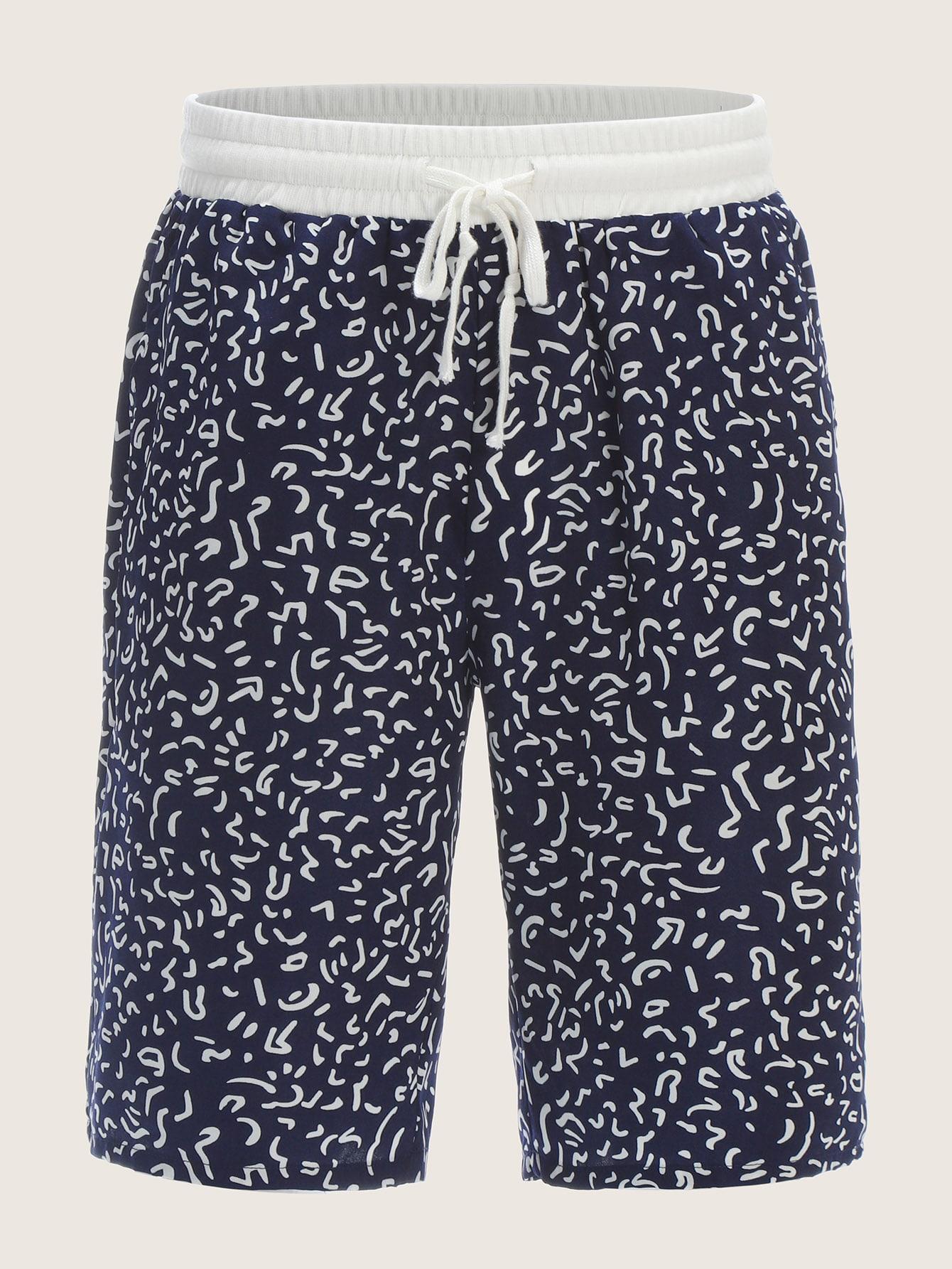 Фото - Мужские шорты с контрастной талией от SheIn цвет темно синий
