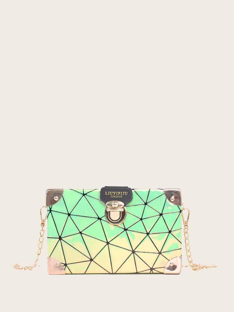 Фото - Структурированная сумка-цепочка от SheIn цвет многоцветный