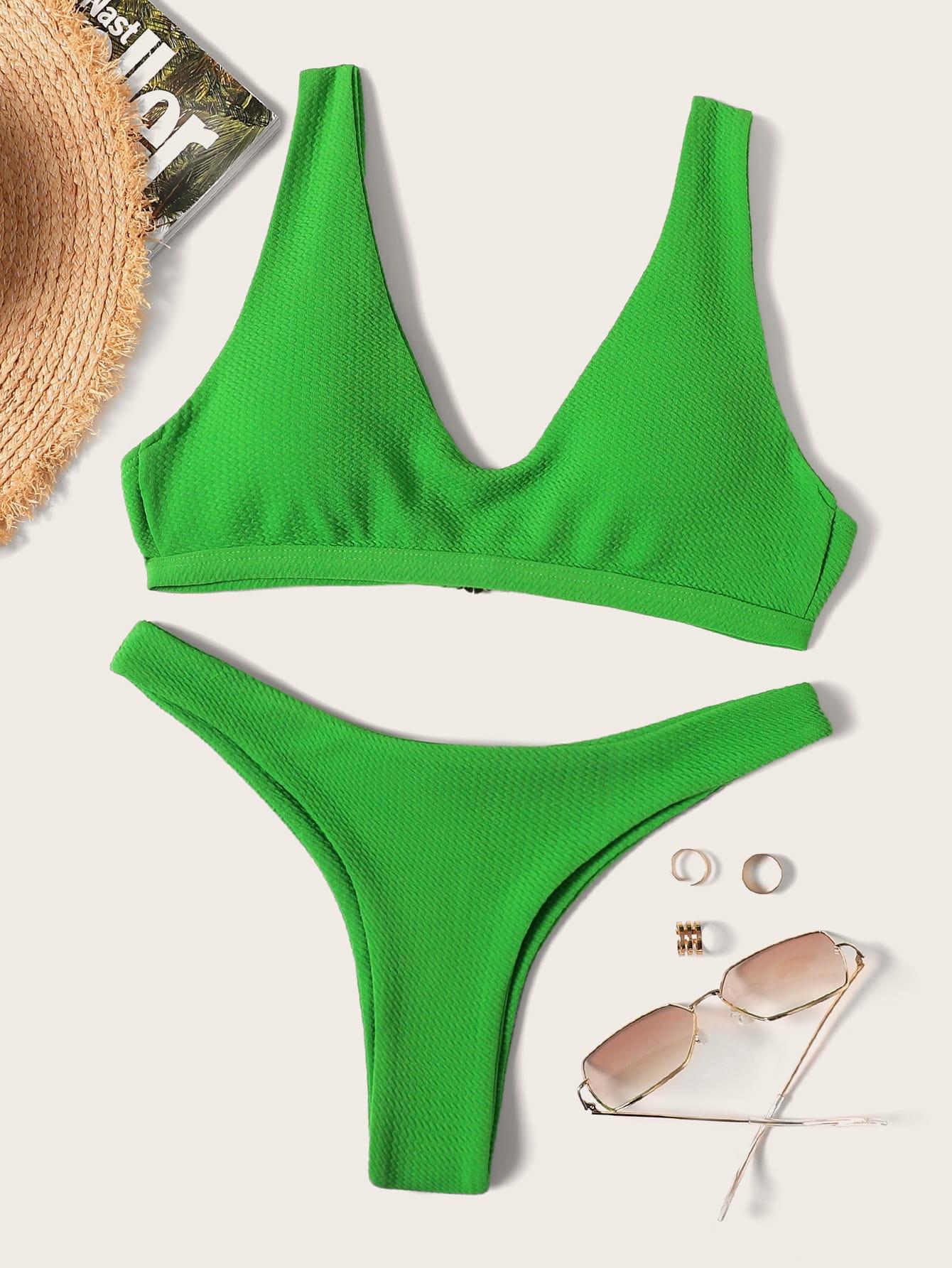 Фото - Стильные бикини от SheIn зеленого цвета