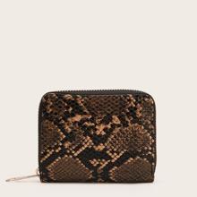 Snakeskin Pattern Zip Purse (bag190305707) photo