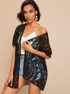 Lace Sheer Kimono