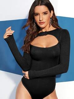 Push Buckle Cut Out Front Bodysuit