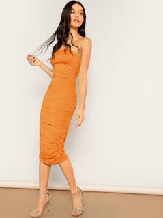 Ruched Cami Pencil Dress