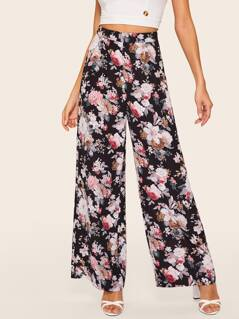 Ditsy Floral Wide Leg Pants