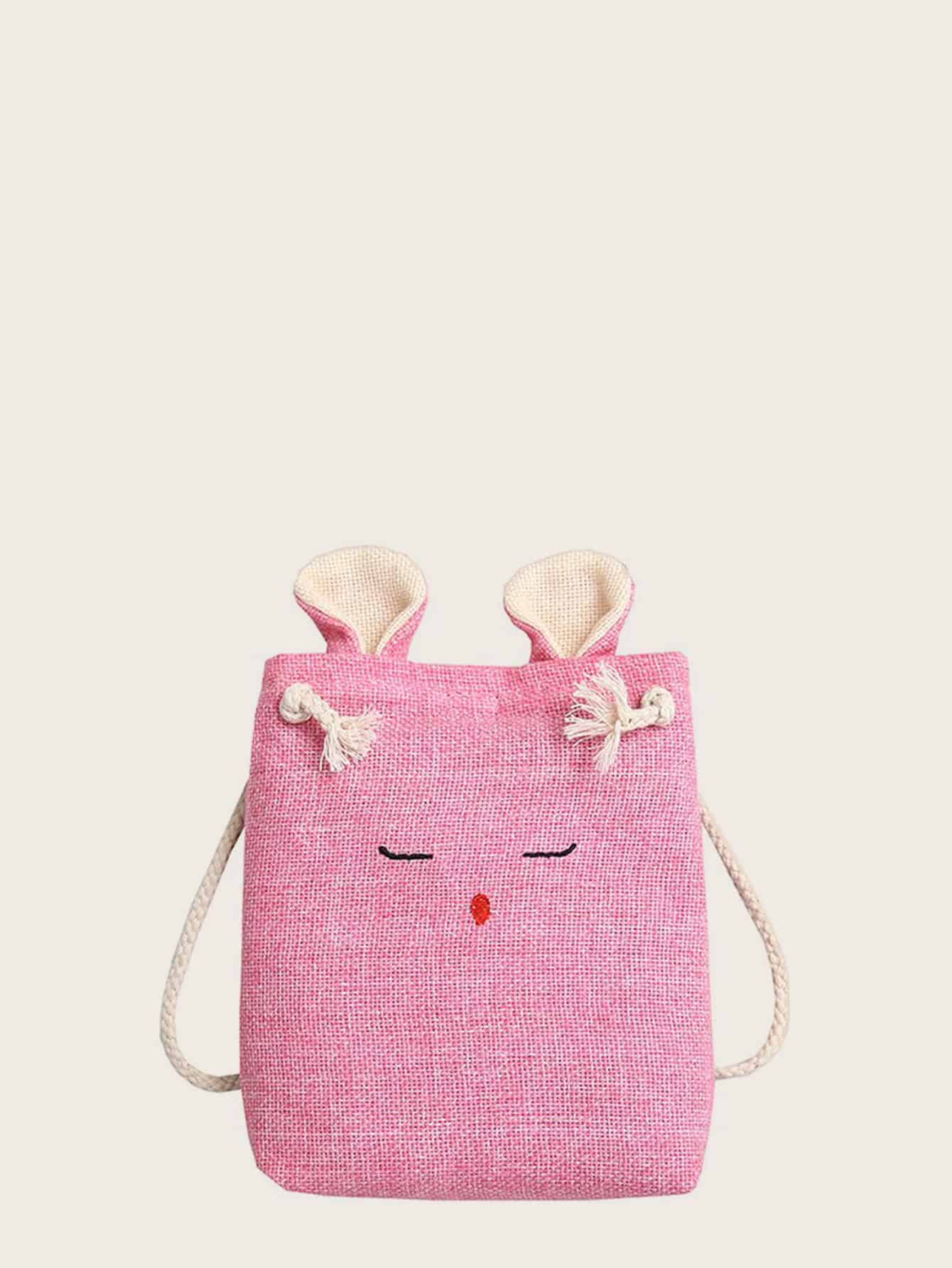 aa54d0ac0a Animal Design Canvas Crossbody Bag, null - shein.com - imall.com