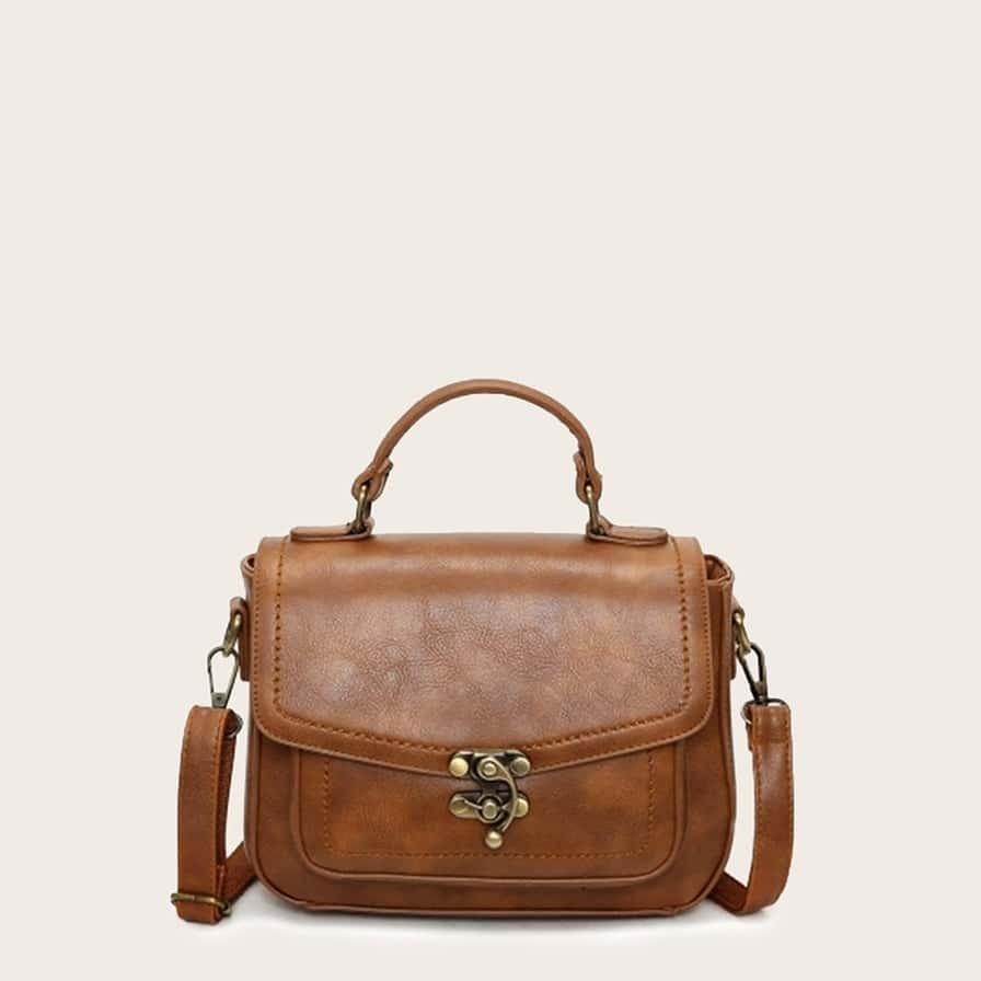 Сумка-портфель с металлическим замком от SHEIN