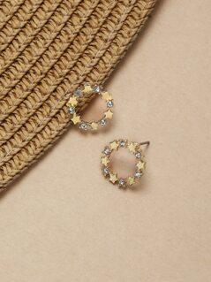 Stud And Mini Star Hoop Earrings Set