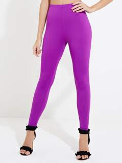 Purple Long Leggings