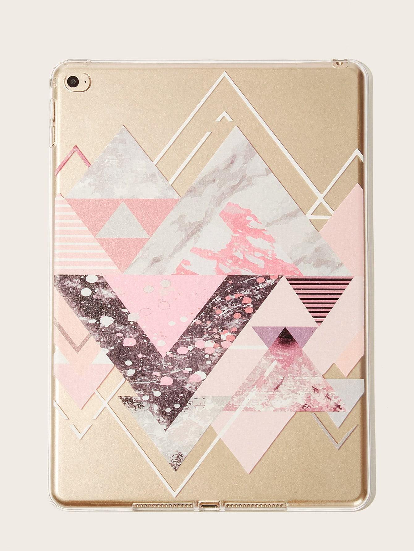 Geometric Pattern Transparent iPad Case null