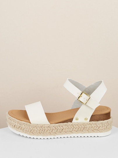 Band Espadrille SandalsShein Platform Wedge Single LzVSGMqUp