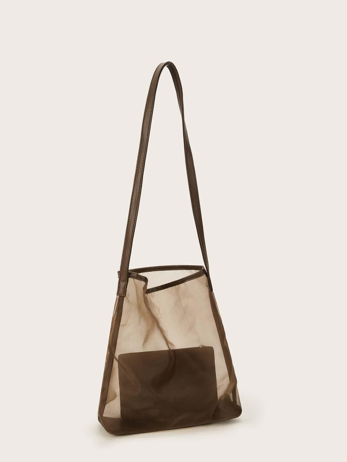 Большая сумка-сетка с внутренней сумкой SheIn