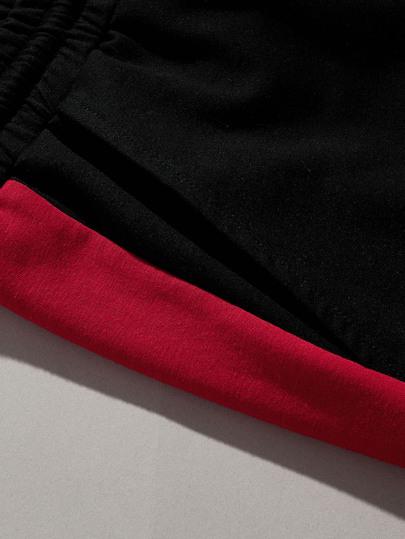 SheIn / Men Cut-and-Sew Slant Pocket Drawstring Waist Shorts