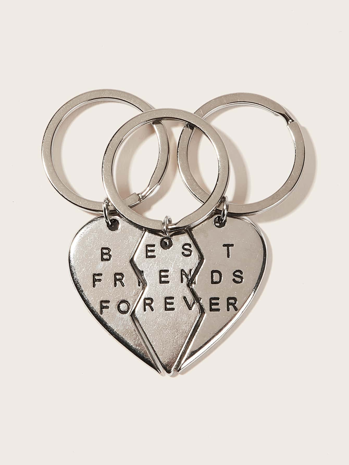 a1c9607272 Letter Pattern Metal Pendant Keychain 3pack, null - shein.com ...