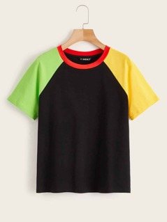 Color Block Raglan Sleeve Top