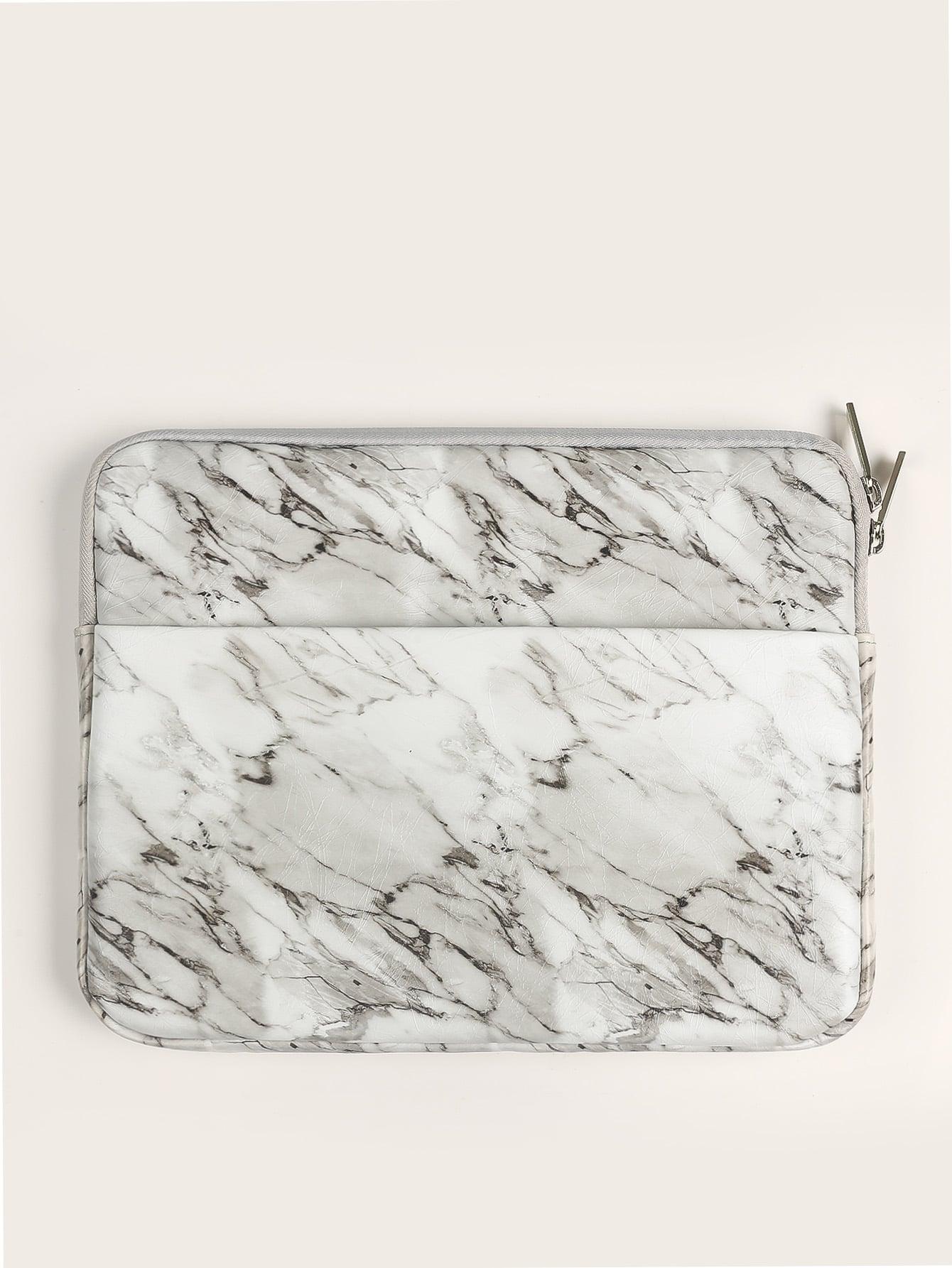 Zipper Around Marble Print iPad Bag null