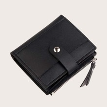 Fold Over Side Zip Purse (bag190402327) photo