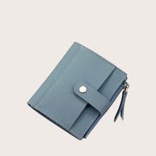 Fold Over Side Zip Purse (bag190402329) photo