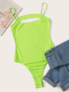 Cut Out Front Cami Bodysuit