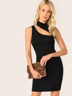 Cut Out Sleeveless Bodysuit Dress