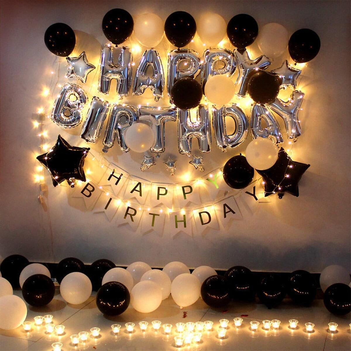Verjaardag decoratie ballon set 48 stuks