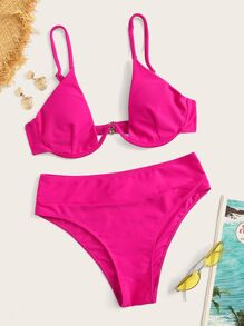 Underwire | Bikini | Neon | Pink | Hot | Set