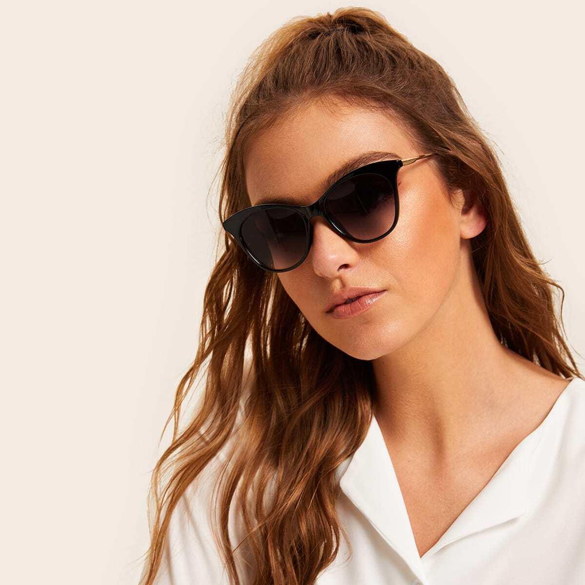 SHEIN / Sonnenbrille mit flachen Linsen