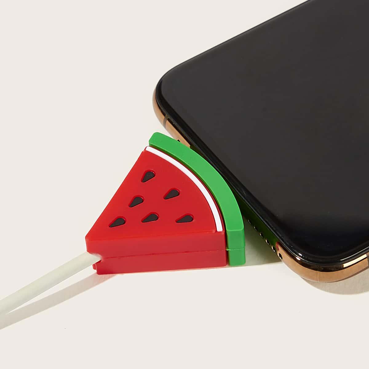 Watermeloen-vormige USB-kabelbeschermer