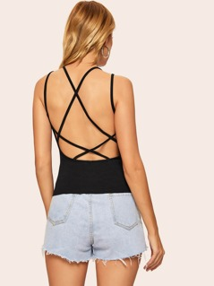 Criss-cross Backless Cami Top