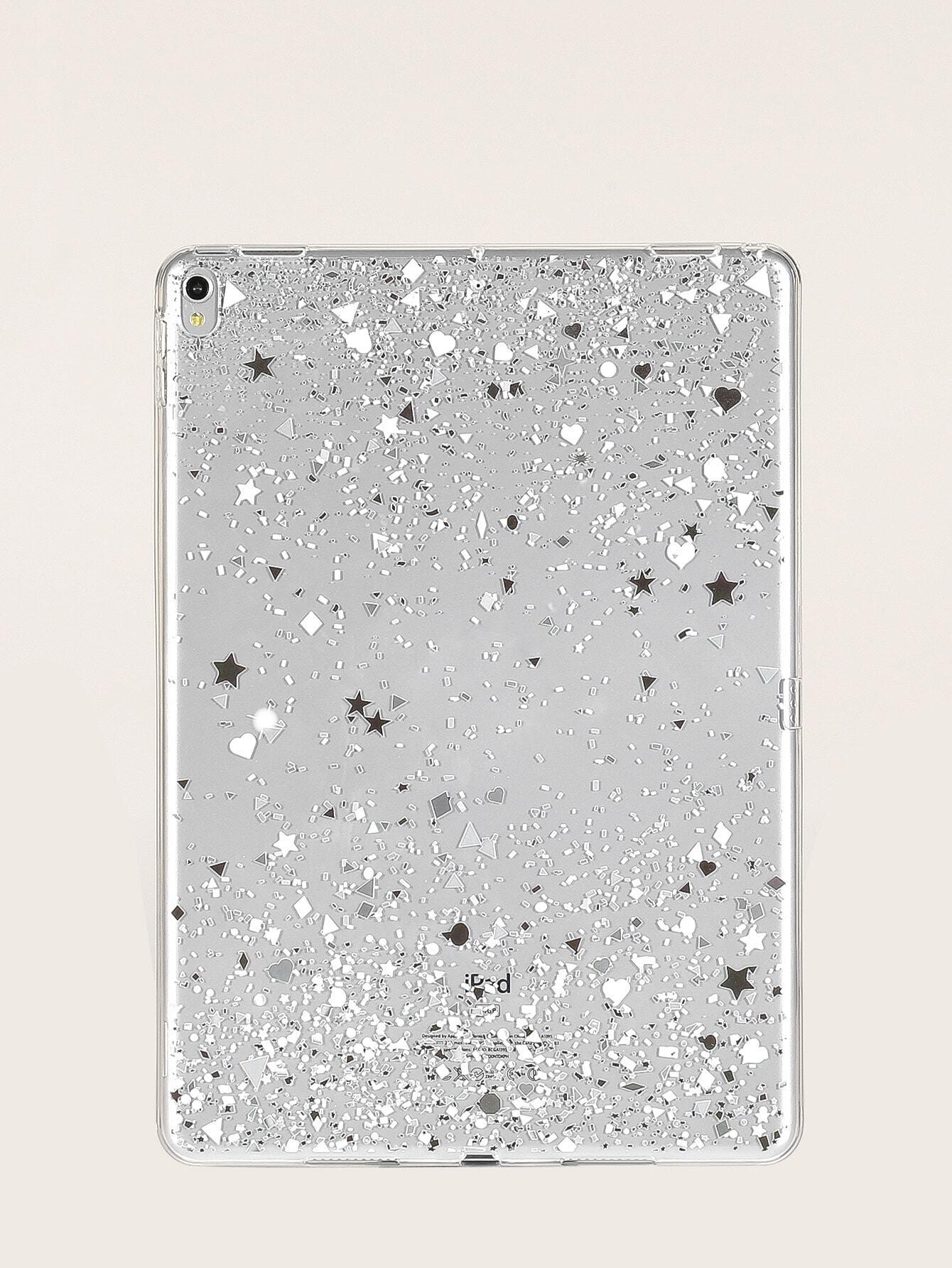 Glitter Transparent iPad Case null